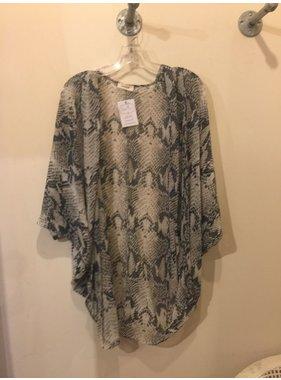 Adrienne Snake Print Kimono Cardigan