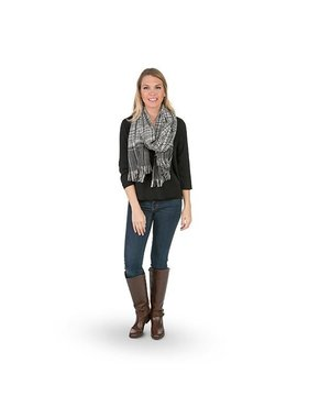 Top It Off Laurel Scarf - Black