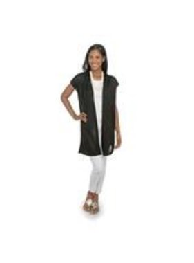 Top It Off Olivia Bamboo Duster - Black