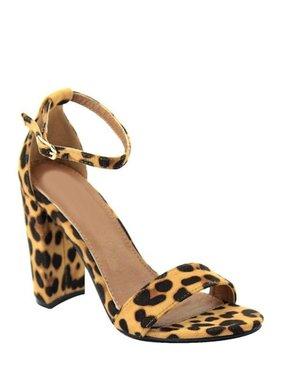 LA Shoe King Leopard Heel