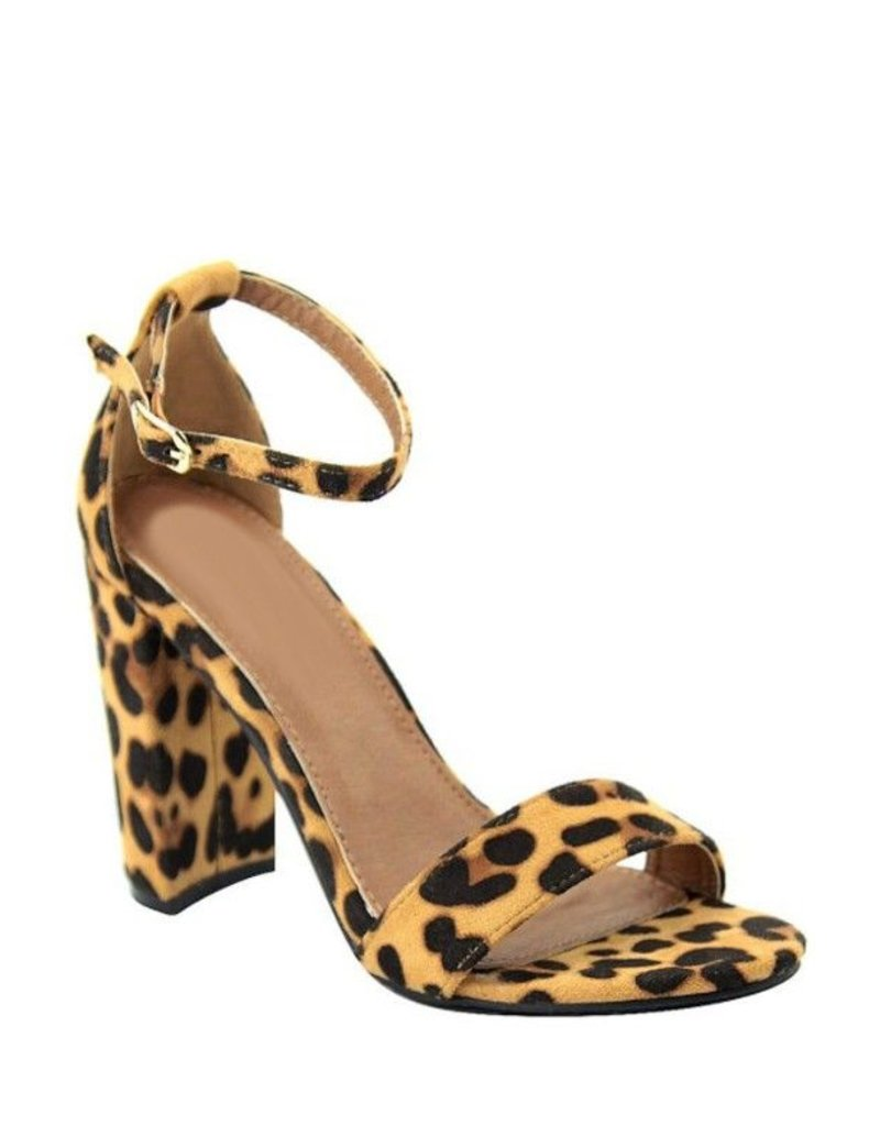 LA Shoe King Leopard Heel