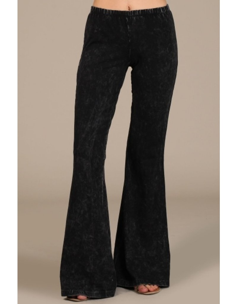 Chatoyant Mineral Washed Bell Bottom Pants