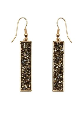 What's Hot Bronze Crystal and Gold Earring