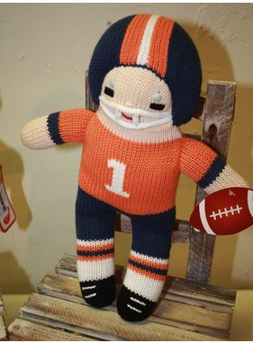 "Renzo Football Player 12"" orange/navy by Zubels"