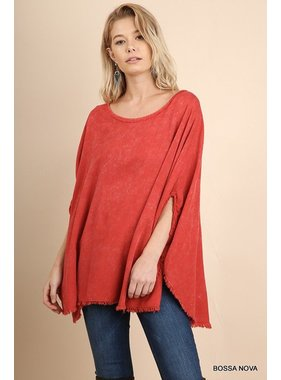 Umgee Mineral Washed Scoop Neck Top