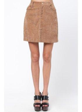 Very J Camel Skirt