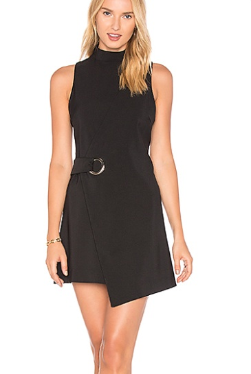 House Of Quirky Eyelet Wrap Dress Black