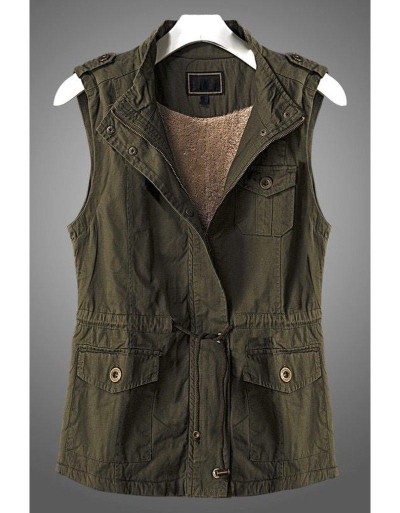 Trend:Notes Faux Fur Lined Anorak Vest