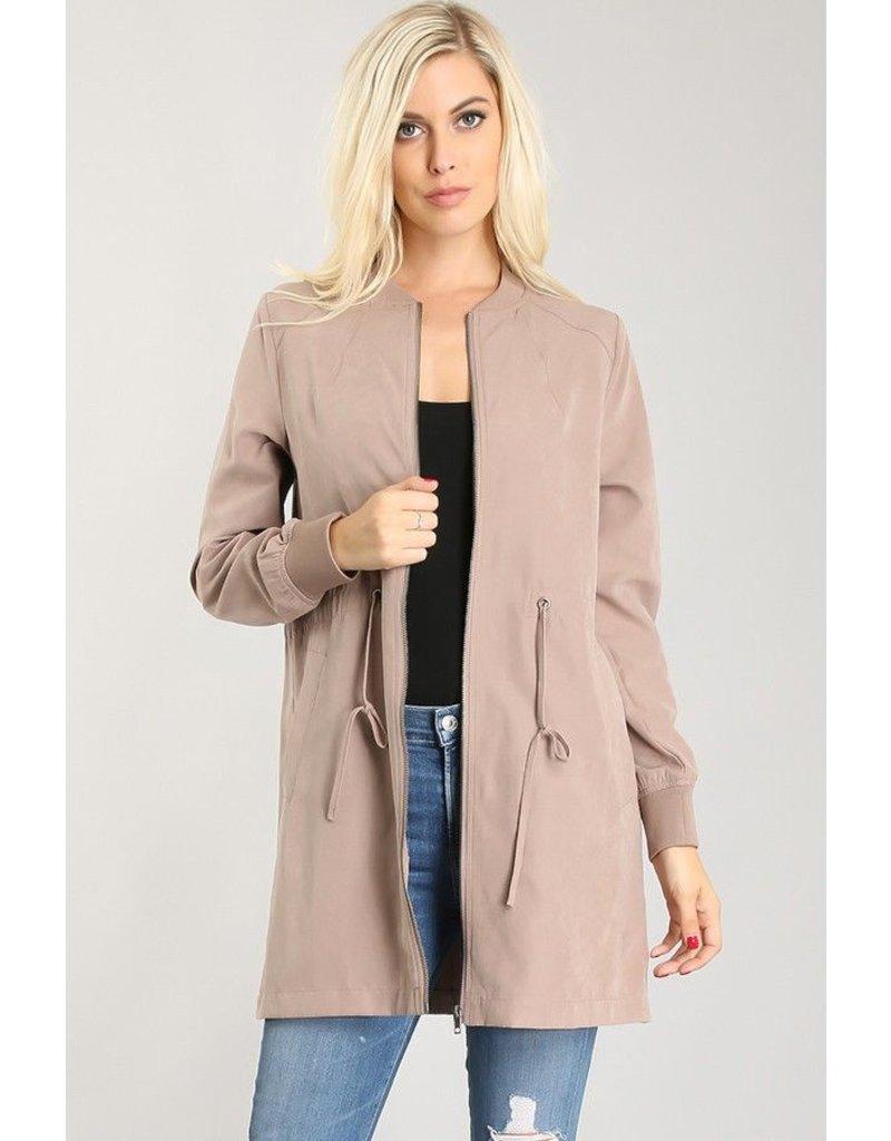 La Vida Zip Up Jacket with drawstring