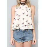 By Togeher Two Layer Floral Tank Top