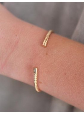 Caroline Hill Crain Cable Wire Brass CUff