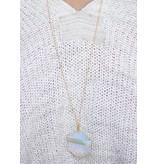 Caroline Hill Joris Stone Thread Wrapped Hexagon