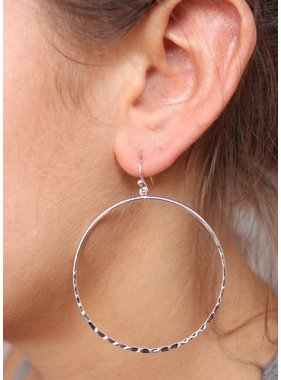 Caroline Hill Textured Hoop Earrings