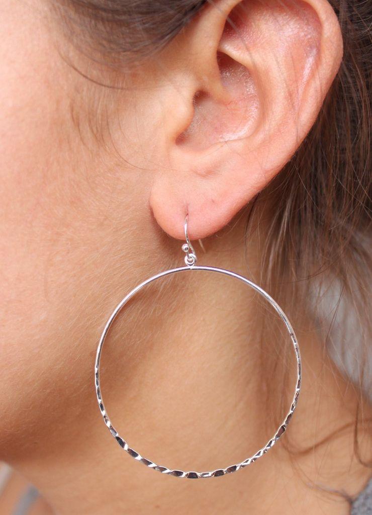 Caroline Hill Textured Hoop Earrings