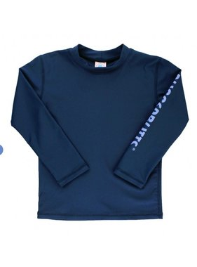 Ruffle Butts Navy Logo Long Sleeve Rash Guard