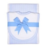 3 Marthas Blue Drooler Bib & Burp Set by 3 Marthas'