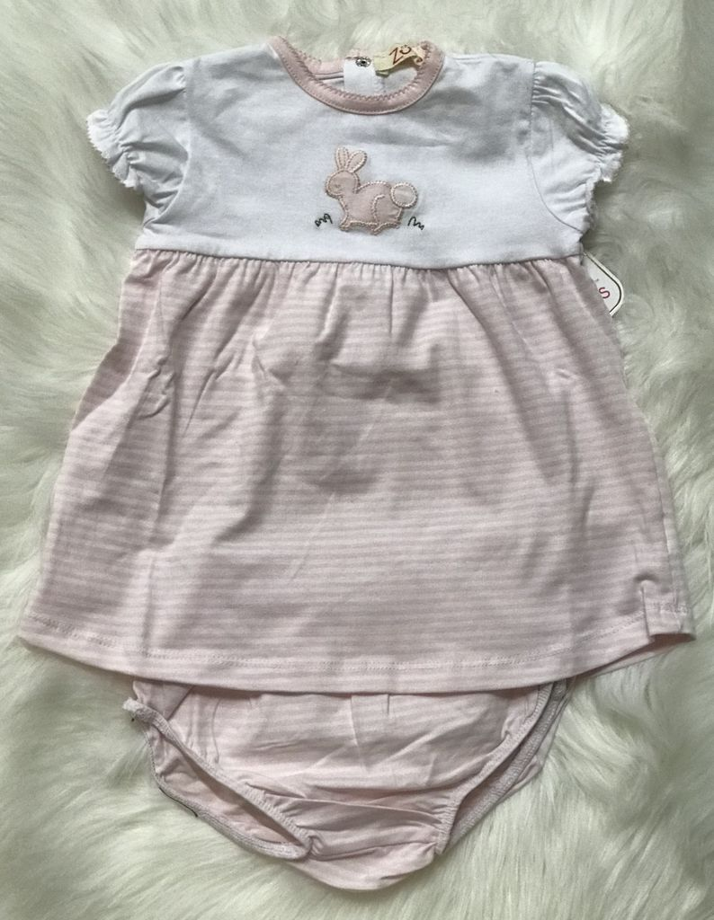 Renzo 2 pc set with bunny applique by Zubels