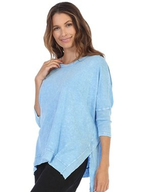 Jess & Jane Dolman Sleeve Mineral Washed Tunic