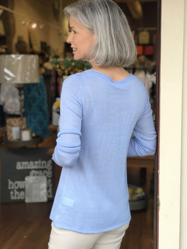 Buur Fashion Chambray Lightweight Sweater