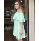 Buddy Love Wholesale Maddox Mint Snake Print Dress
