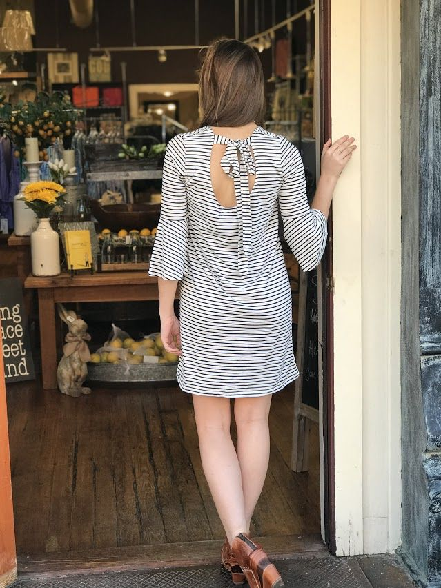House Of Quirky Staycation flare sleeve dress