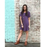 Before You Collection Short Sleeve Scoop Neck Dress