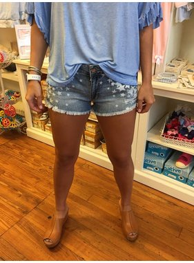 cfb659ee56 Vintage Havana Light Denim Wash Fading Star Print Shorts