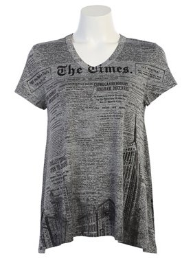 Jess & Jane City News Short Sleeve Tunic