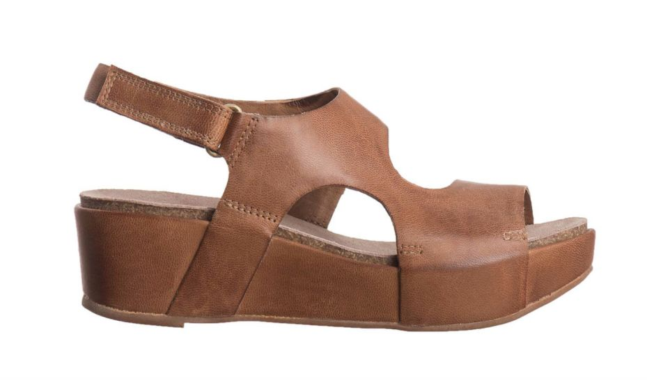 Antelope Taupe Side Cuts Sandal