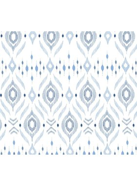 "Angel Dear Bamboo Swaddle Blanket - Blue Ikat - 47""x47"""