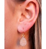 Caroline Hill Andesa Druzy Stone Earring - Natural Color