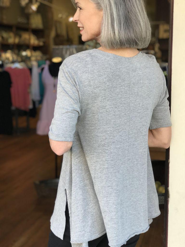 Creative Co-op Cotton A-Line Poppy T- Shirt
