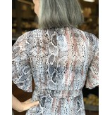 Peach Love California Snake Printed Woven Jacket