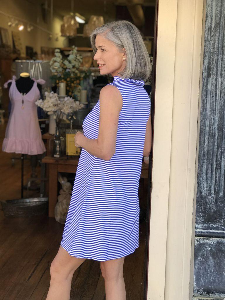 Lulu B V Neck Ruffle Dress by Lulu B