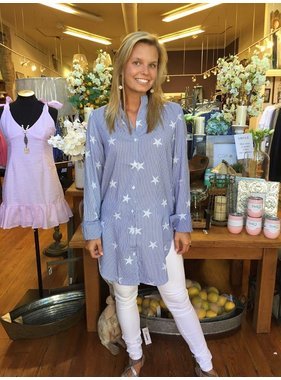 Blu Heaven Star Button Up Blouse