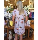 Blu Heaven Lavendar Floral Dress