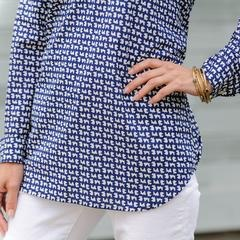rockflowerpaper Navy Twill Poet Shirt