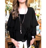 House Of Quirky Ruffle Sleeve Wrap Top