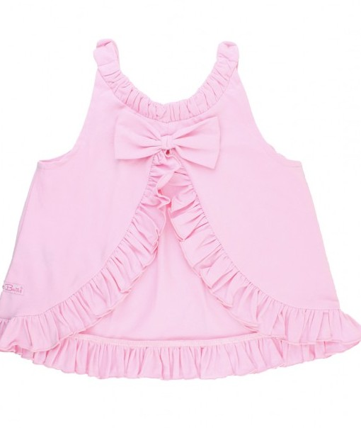 Ruffle Butts Pink Knit Ruffle Swing Top