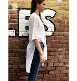 House Of Quirky Rib Suede Tie Front Tee