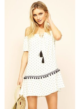 House Of Quirky Common Ground Off Shoulder Dress