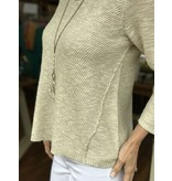 Habitat Linen Cotton Diagnal Stitched V Tunic
