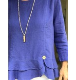 Mosaic Clothing Linen Pullover with Ruffle by Mosaic Clothing