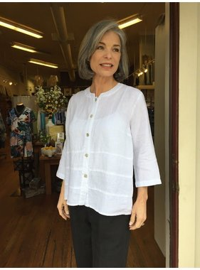Mosaic Clothing Button Front Linen Blouse/Jacket by Mosaic Clothing
