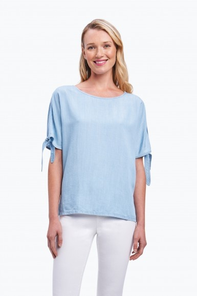 Foxcroft Laura Cold Shoulder Tencel Top