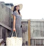 rockflowerpaper Palm Leaves Black Beach Dress