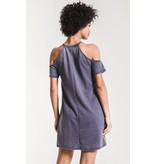 Z Supply Short Sleeve Cold Shoulder Dress