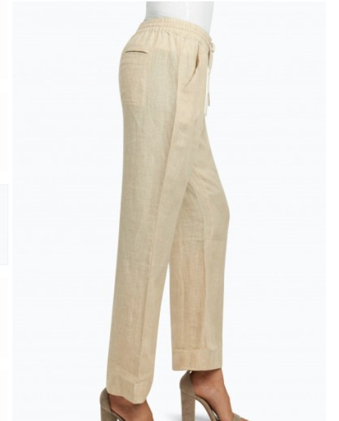 Foxcroft Shore Pant in Chambray linen
