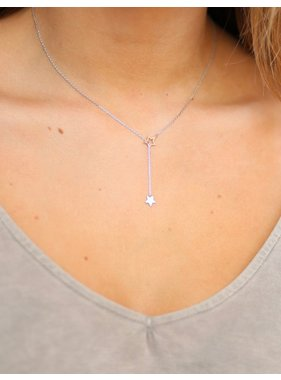 Caroline Hill Shoot Through Delicate Star Necklace