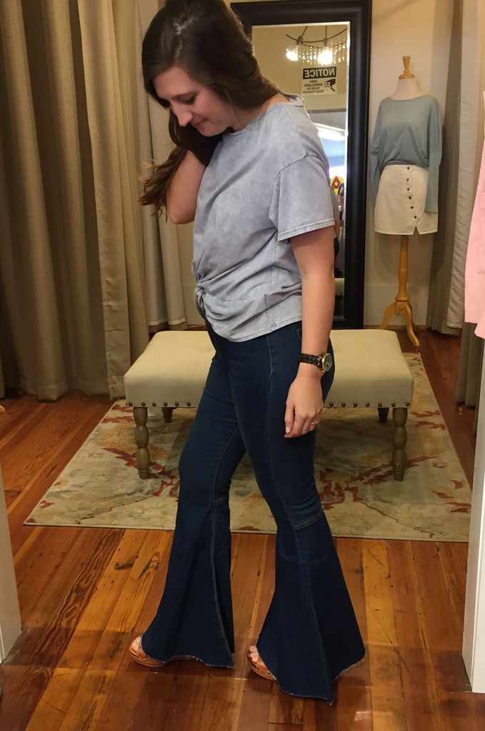 Peach Love California Denim Flares